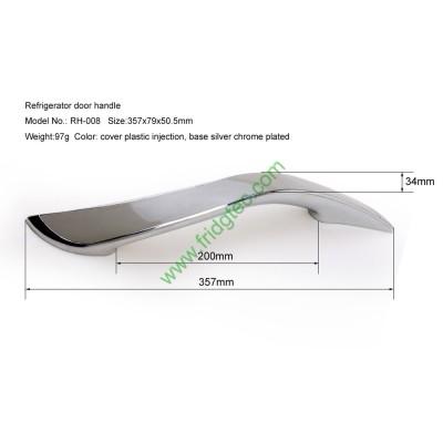Twin freezer plastic silver chrome plated door handle RH-008
