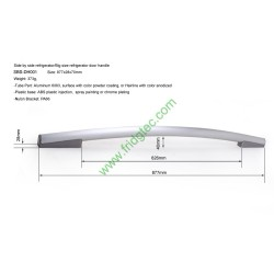 Side by side refrigerator aluminum door handle SBS-DH001