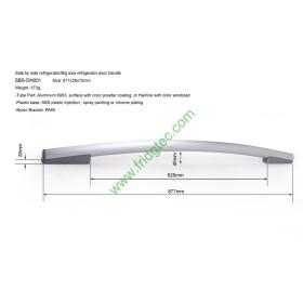 Side by side refrigerator aluminum door handle SBS-DH001