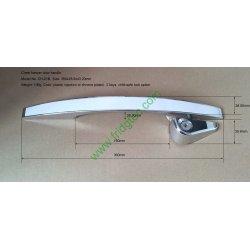 Good quality silver chrome plated door handle  CH-016 for top open door chest freezer