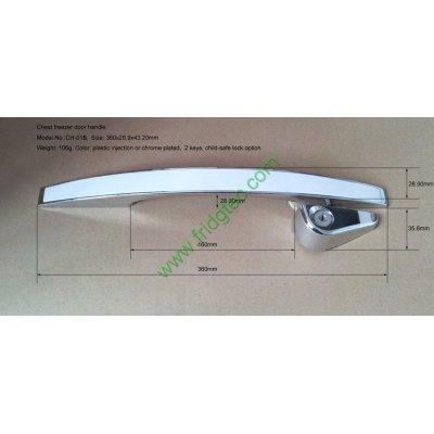 China good quality top door chest freezer chrome plating door handle  CH-016