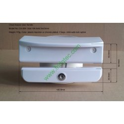 New design China good quality top open door freezer door handle CH-009