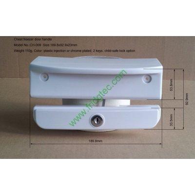 New design China good quality top open door freezer door handle CH-009