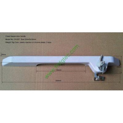 Top open door freezer plastic door handle CH-007 with lock
