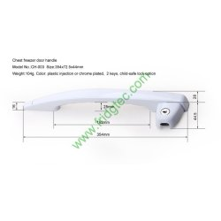 Top open door freezer plastic door handle CH-003