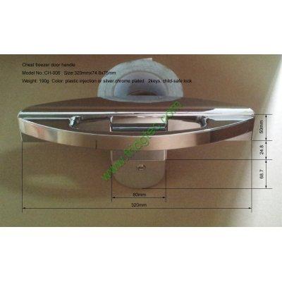 New design chest freezer chrome plated plastic door handle CH-006