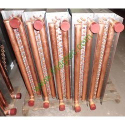 China made 20x20 Water to Air Heat Exchanger Hot Water Coil for Outdoor Wood Furnace  1