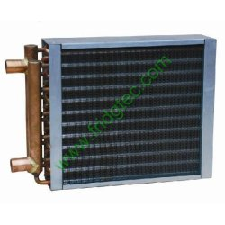 China made high quality water to air copper tube heat exchanger for heating equipment