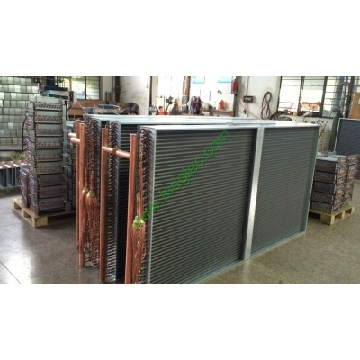 Copper tube fin type direct expansion evaporator coils