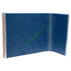 China good quality industrial air conditioning copper tube blue aluminum foil fin condenser