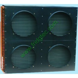China made good quality copper tube fin condenser with fan cover