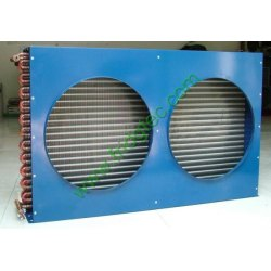 China good quality copper tube fan cooled fin condenser coill for refrigeration