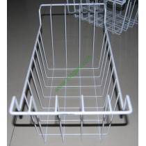 Wire basket for chest freezer, ice cream freezer, white powder coated, ROHS and Reach compliance