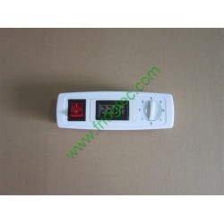 Chest freezer display cooler, mechandiser freezer, display freezer control panel with digital thermometer