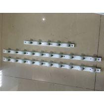 Merchandiser display cooler - visi cooler- showcase shelf plastic holding rail