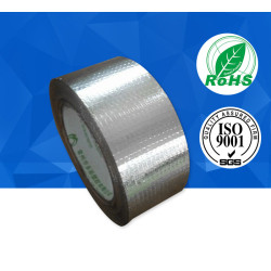 Flame retardant fiberglass cloth aluminum foil tape no removable liner