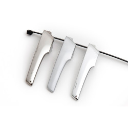 Chrome plated plastic parts and components for a variety of applications