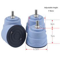Universal adjustable washing machine levelling foot with threaded screw, total foot height 7-10cm