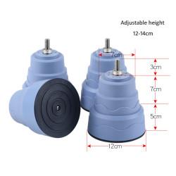 Genuine washer dryer replacement leg foot non-slip, adjustable height 12-14cm
