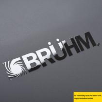 Electroplating nickel metallic adhesive brand,logo label sticker for appliance