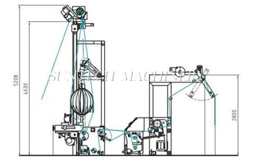 SUNTECH Evolution type for raw and wet fabrics tubular slitting machine