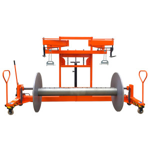 SUNTECH Hydraulic Warp Beam Lift Trolley With Harness Mounting Device