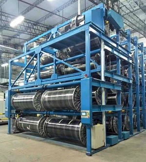 Suntech Heavy Duty Warp beam Weaver beam Stacker Storage System