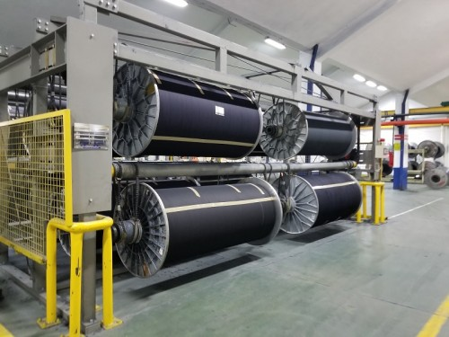 Suntech high Space utilization and data communication warp beam storage system