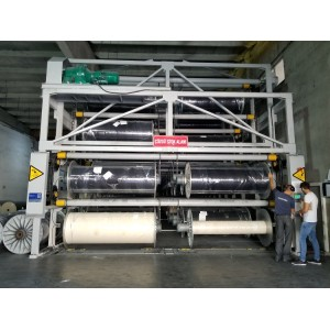 SUNTECH Computerized fabric batch roll Storage Stacker
