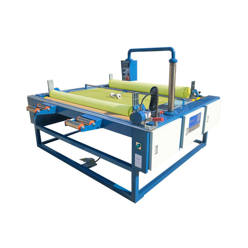 SUNTECH Textile Distributor Wholesaler Fabric Rolling and Measuring Machine with inspection table