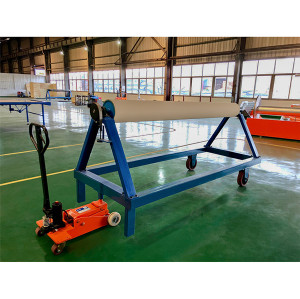 SUNTECH Robust hydraulic system smoothly running pu wheels A-frame lifting trolley