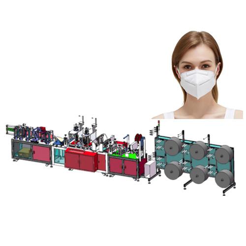 Automatic Earloop Ultrasonic Welding Folding N95 Mask Making Machine