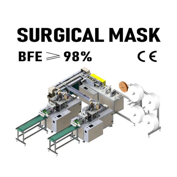 Super Speed Automatic DisposableMedical Face Surgical Mask Making Machine