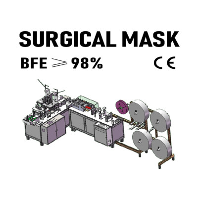 Super Speed 1+1 Automatic 3-ply Mask Making Machine