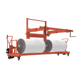 SUNTECH Hydraulic Warp Beam Lift Trolley for Twin Beam Transporting