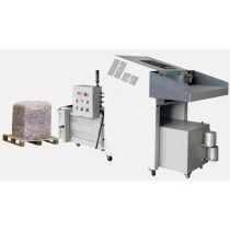 Industrial paper shredder with hydraulic baler