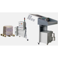 Industrial paper shredder with hydraulic baler