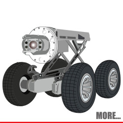 Automatic PTZ Sewer Crawler Camera Robot S300