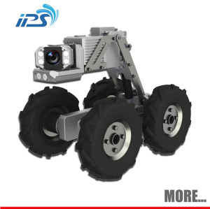Underground plumbing pipe camera water detection robot with auto level cctv camera for sewer pipe faulty location systems