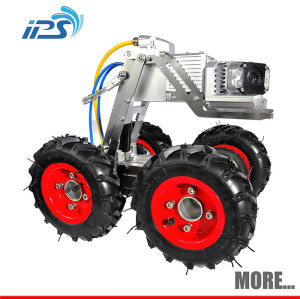 360 degree pipe inspection camera robot with motorized pan/til/zoom sewer cameras head