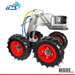 Pan 360 degree /tilt 180 degree 50mm drain camera survey camera 120m pipe inspection crawler robot