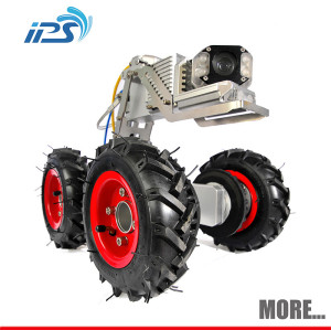 Underwater sewer pipe inspection crawler robot camera