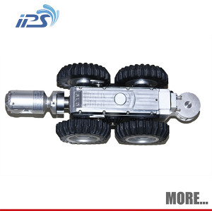CCTV Pipeline Robot Crawler With Manual Lift For 600mm Pipes