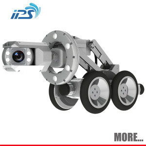 Pan and Tilt Robotic Crawler Pipe Inspection System With Manual Lift S100