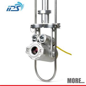 Manhole inspection pipeline camera with PTZ camera head