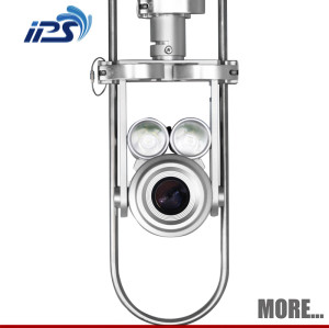 motorized tilt and pan inspection camera head ~ Sewer drain camera