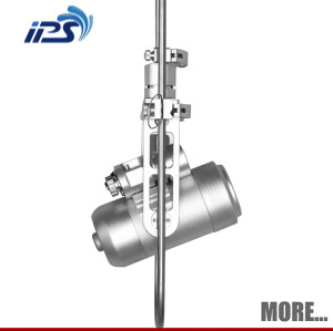 water pipe inspection telescopic pole camera with PTZ camera head and laser range module