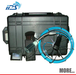 Visual sewer drain pipe inspection camera system