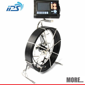 Pan tilt water drain line pipe inspection camera