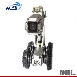 Pan tilt pipeline sewer duct inspection robot camera with 360 degree rotation